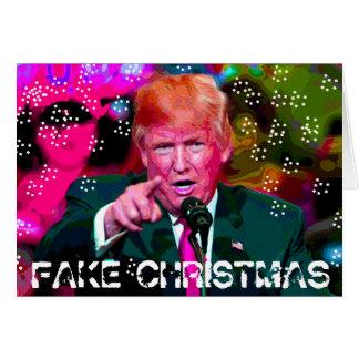 Fake Christmas, Donald Trump Satire Christmas Card
