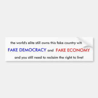 Fake Country Bumper Sticker