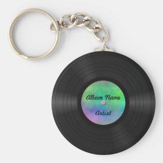 Fake Custom Vinyl Record Basic Round Button Key Ring