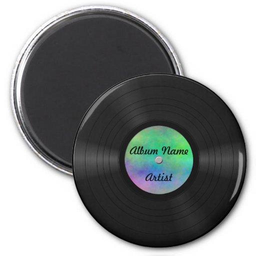 Fake Custom Vinyl Record Magnet