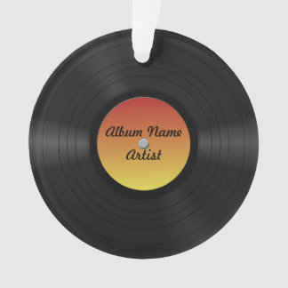 Fake Custom Vinyl Record Ornament