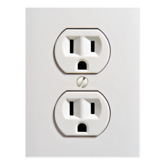 Fake Electrical Outlet Postcard