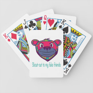 Fake friends bicycle playing cards