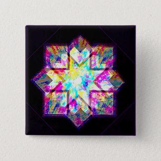 Fake gem 15 cm square badge