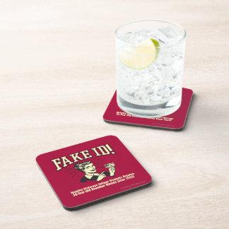 Fake ID: Underage College Hawaiian Drink Coasters