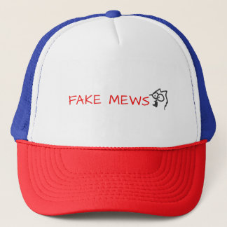 fake mews trucker hat