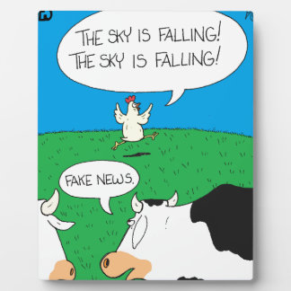 Fake Moos Zazzle Plaque