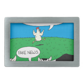 Fake Moos Zazzle Rectangular Belt Buckle