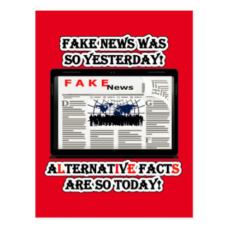 Fake News and Alternative Facts Postcard