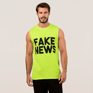 Fake News fashionable Post Truth Sleeveless Shirt