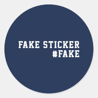 Fake News Humor Fake Classic Round Sticker