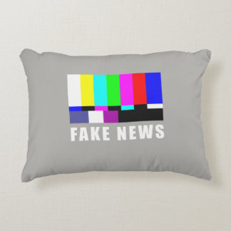 Fake news. Media, politics, television Decorative Cushion