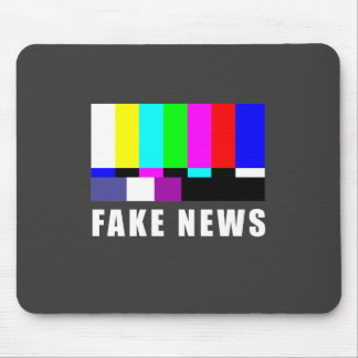 Fake news. Media, politics, television Mouse Pad