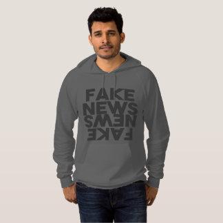 Fake News Post Truth Mirror Hoodie