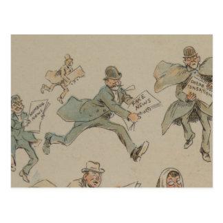 Fake News Postcard Illustration from 1894