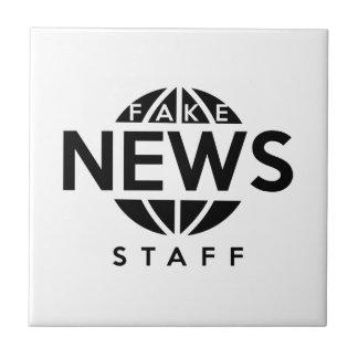 Fake News Staff Ceramic Tile