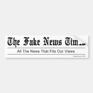 Fake News Times Bumper Sticker