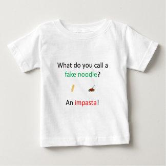 Fake Noodle Joke Baby T-Shirt
