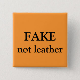 FAKE not leather 15 Cm Square Badge