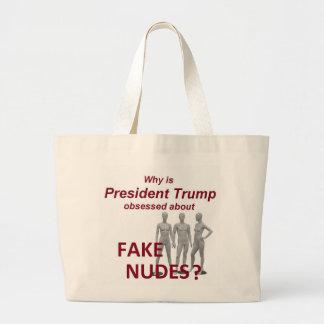 Fake NUDES News Large Tote Bag