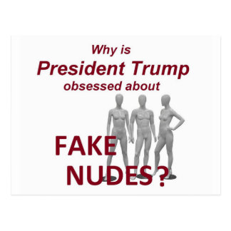 Fake NUDES News Postcard