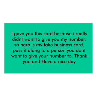 Fake out Card Pack Of Standard Business Cards