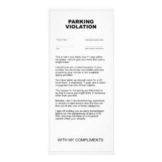 Fake Parking Violation Ticket Custom Rack Card