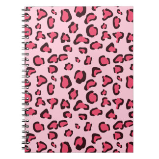 Fake Pink Leopard Print Notebooks