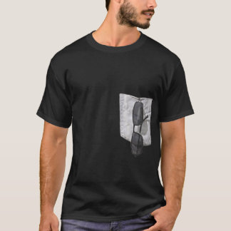 Fake Pocket With Sunglasses Outside T-Shirt
