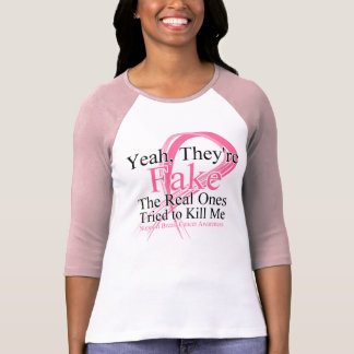 Fake - Real Ones Tried to Kill Me - Breast Cancer Shirts