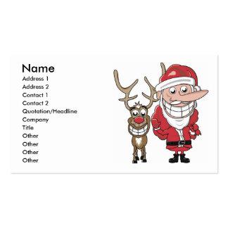 Fake Santa Business Card Template