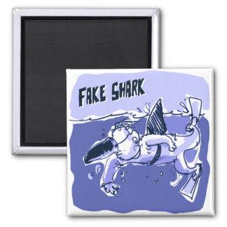 fake shark sketch style funny cartoon magnet
