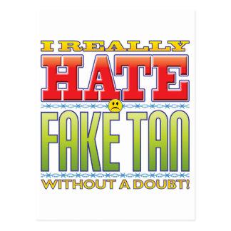 Fake Tan Hate Face Postcard