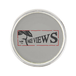 fake views lapel pin