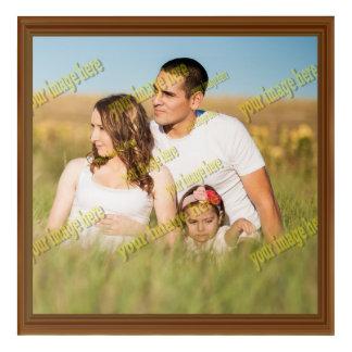 Fake Wood Frame Family Photo Create Your Own Acrylic Print