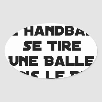 FAKED MATCHES, HANDBALL SE DRAWS A BALL IN OVAL STICKER