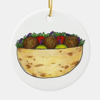 Falafel Pita Sandwich Food Foodie Gift Ornament