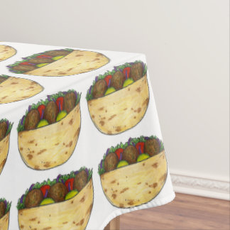 Falafel Pita Sandwich Food Foodie Party Tablecloth