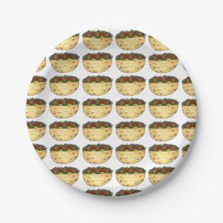 Falafel Pita Sandwich Food Foodie Print Pattern Paper Plate
