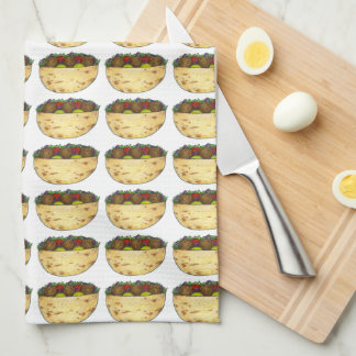 Falafel Pita Sandwich Food Foodie Print Towel
