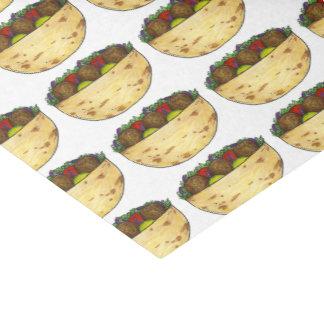 Falafel Pita Sandwich Food FoodieGift Tissue Tissue Paper