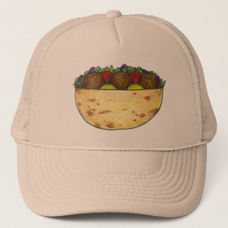 Falafel Pita Sandwich Funny Food Foodie Hat