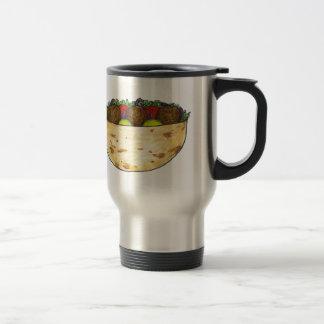 Falafel Pita Sandwich Mediterranean Food Vegan Travel Mug