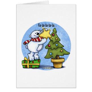 Falala Beary Christmas Bear Greeting Cards