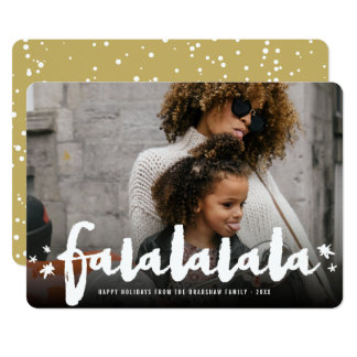 Falalalala Brush Stars Modern Holiday Photo Card