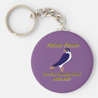 Falcoms Forever - round keychain