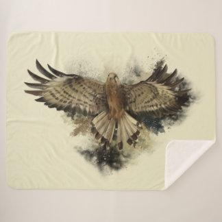 Falcon Flight Large Sherpa Blanket