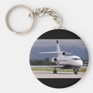 Falcon Jet Basic Round Button Key Ring