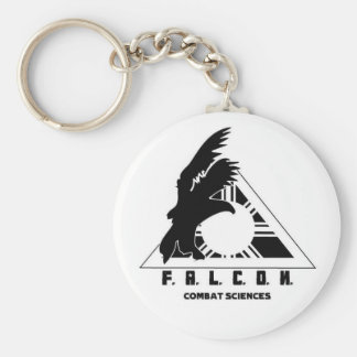 Falcon Logo Basic Round Button Key Ring