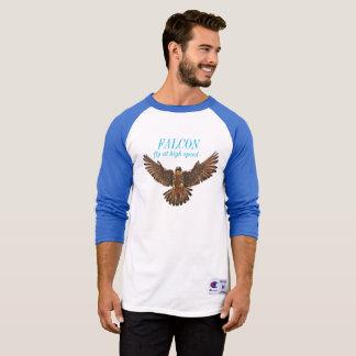 FALCON Men's Bella+Canvas 3/4 Sleeve Raglan T T-Shirt